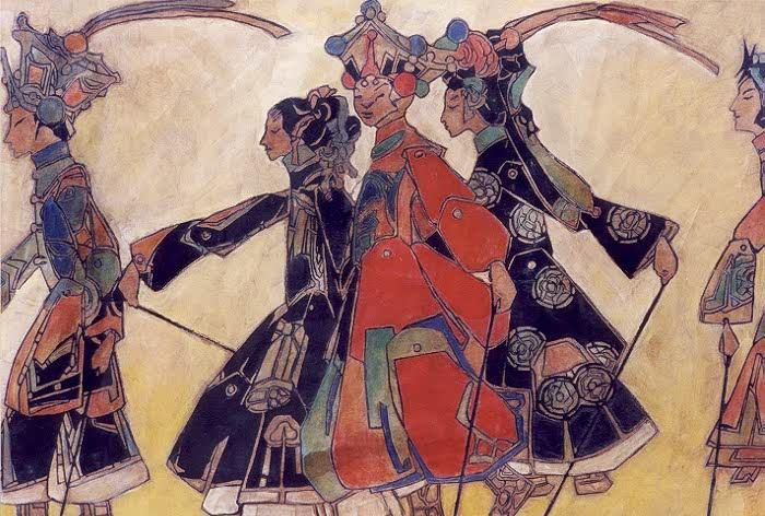 L'attribut alt de cette image est vide, son nom de fichier est Comparaison-1925-Promenade-of-the-Marionettes-2-O-Gallerie.jpg.