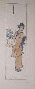 1908 (cat 23) Geisha holding a bonsaï