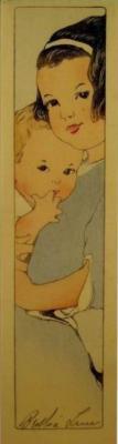 1912 (cat 47) Two Children / My Children