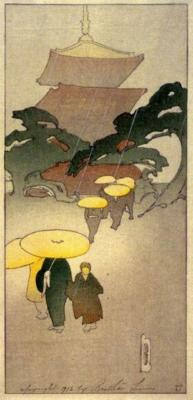 1916 (cat 62) Temple in Rain / Mist / Pagoda in Rain