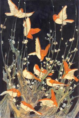 1924 (cat 118) Birds (en relieve)