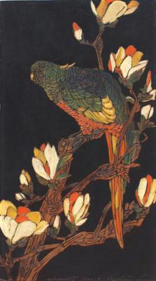 1924 (cat 122) Parrot printed in 1925 (sbalzato)