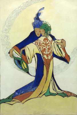 1924 (cat 098) Ming Huang and Yang Kuei Fei (raised lines)