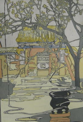 1924 (cat 108) Chufu, Birthplace of Confucius (raised lines)