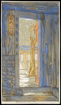 1924 (cat 115) Garden Door (raised lines)