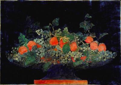 1924 (cat 116) Bowl of Fruit (raised lines)