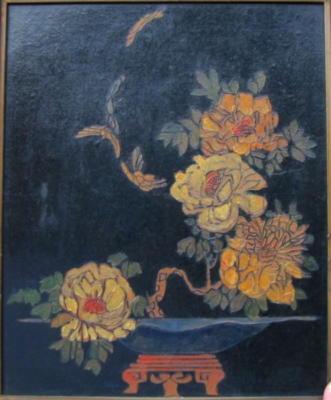 1924 (cat 119) Butterflies (raised lines)