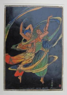 1924 (cat 120) Dancers (raised lines)