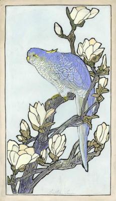 1924 (cat 122) Parrot (raised lines)