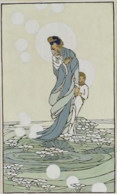 1929 (cat 138) Sea of Lilies (raised lines)