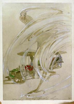 1922 (cat 83) Peking Dust (au crayon et peinture à l'eau)