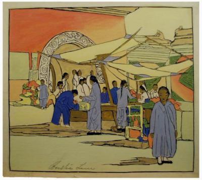 1924 (cat 087) Lung Fu Sou, Chinese Curio Market (en relief)