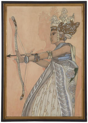 1935 ~ Balinese Dancer - Bedaya Manah by Bertha &  Peter