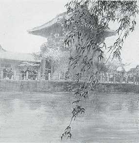 1912 ~ Temple at Osaka, Japan
