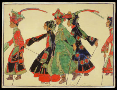 Comparaison 1925 Promenade of the Marionettes 3 vert clair