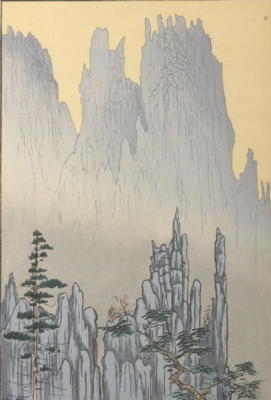 Comparaison 1928 LILLIAN MILLER Cathedral Cliffs, Diamond Mountains, Korea